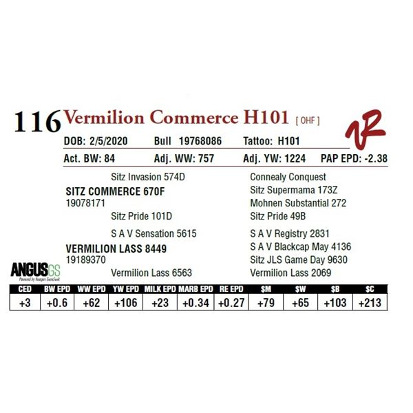 VERMILION COMMERCE H101