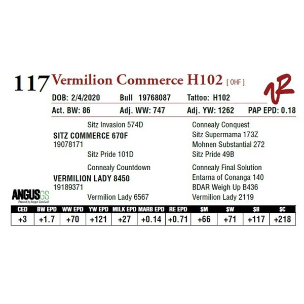 VERMILION COMMERCE H102