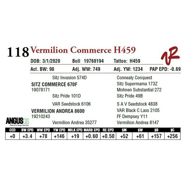 VERMILION COMMERCE H459
