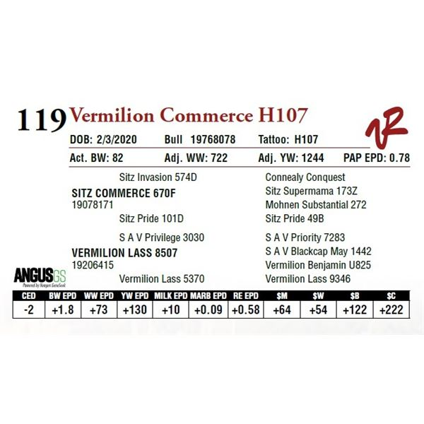 VERMILION COMMERCE H107