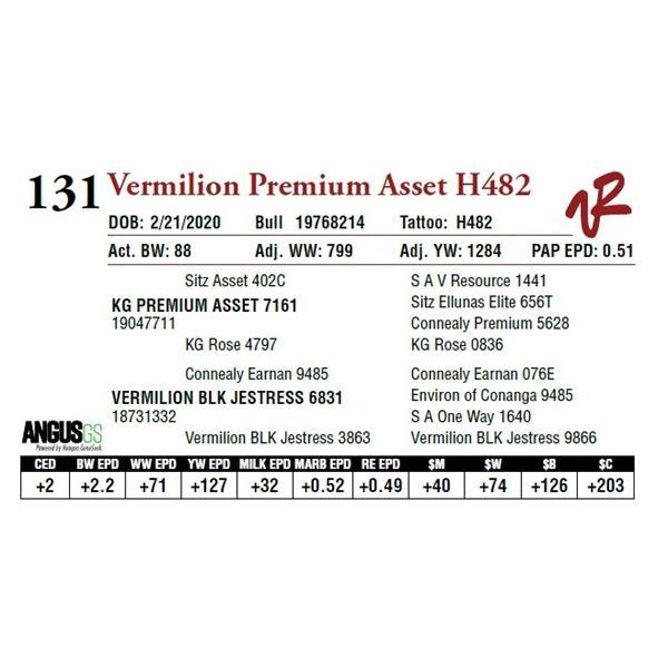 VERMILION PREMIUM ASSET H482