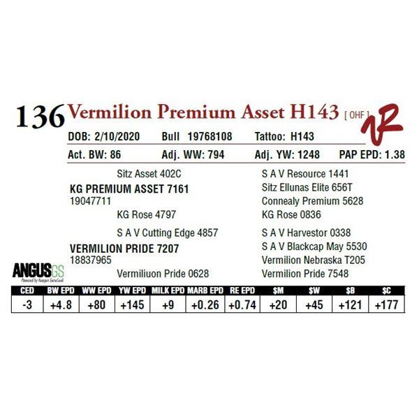 VERMILION PREMIUM ASSET H143