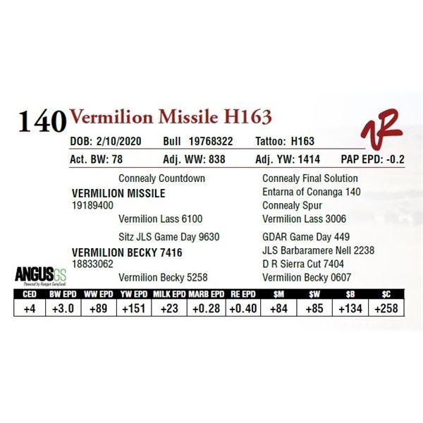 VERMILION MISSILE H163