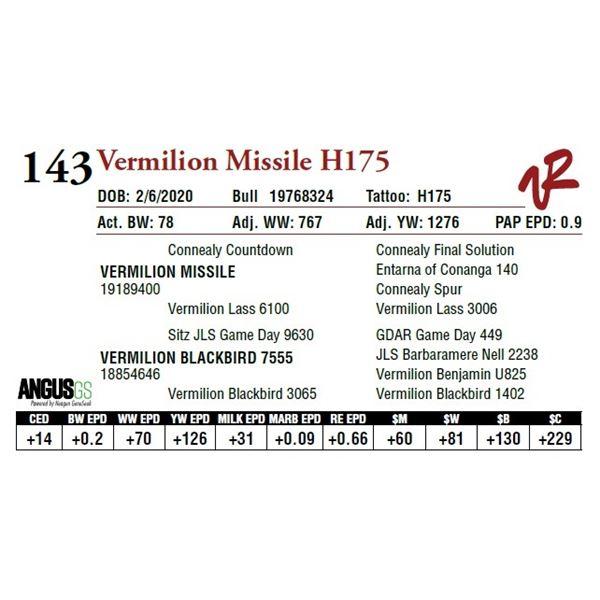 VERMILION MISSILE H175