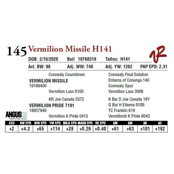 VERMILION MISSILE H141