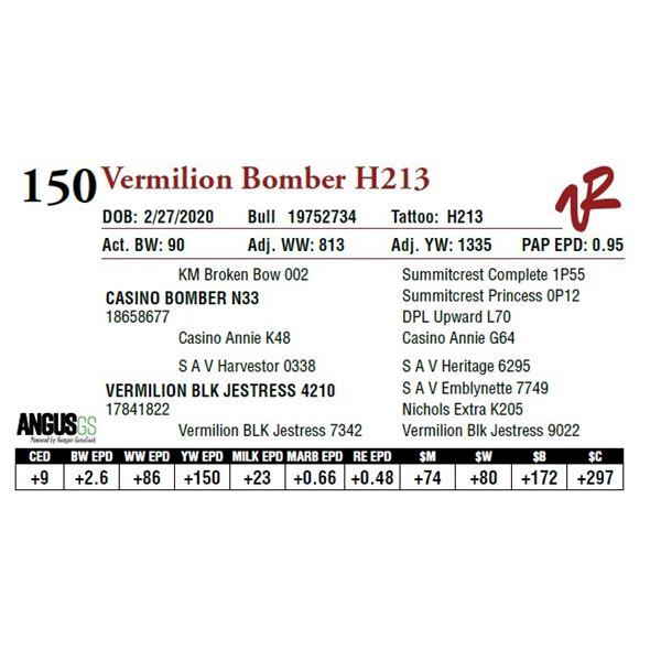 VERMILION BOMBER H213