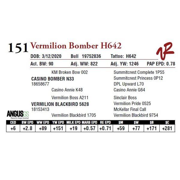 VERMILION BOMBER H642