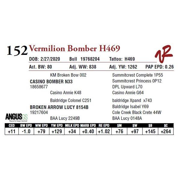 VERMILION BOMBER H469