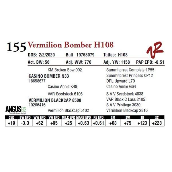 VERMILION BOMBER H108