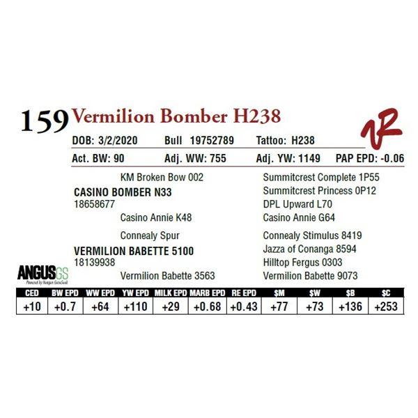 VERMILION BOMBER H238