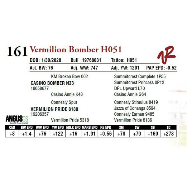 VERMILION BOMBER H051