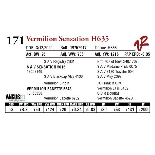 VERMILION SENSATION H635
