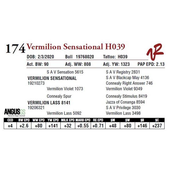 VERMILION SENSATIONAL H039