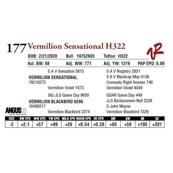 VERMILION SENSATIONAL H322