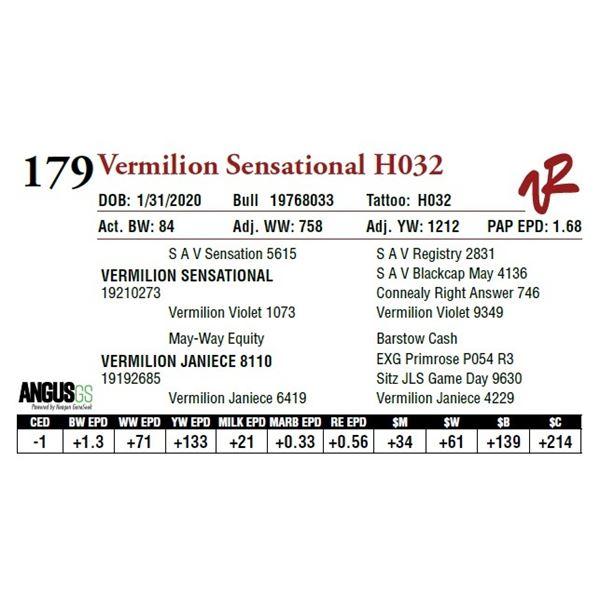 VERMILION SENSATIONAL H032