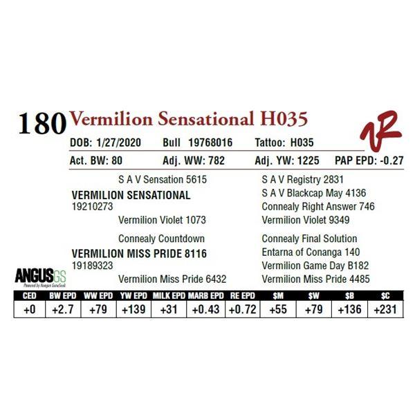 VERMILION SENSATIONAL H035