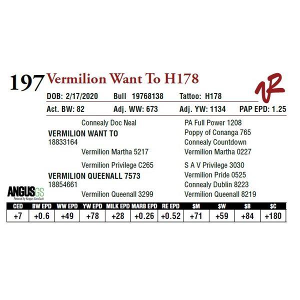 VERMILION WANT TO H178
