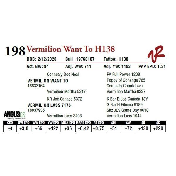 VERMILION WANT TO H138