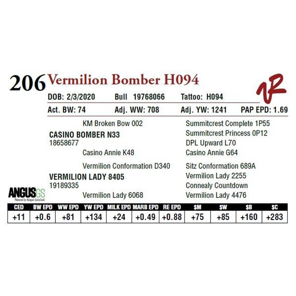 VERMILION BOMBER H094