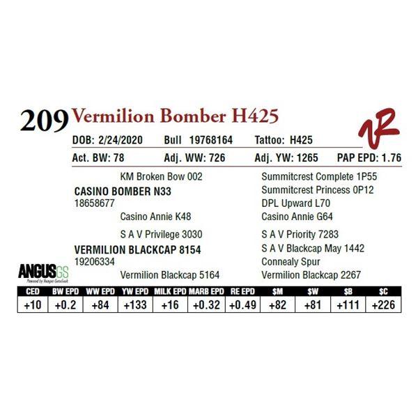 VERMILION BOMBER H425