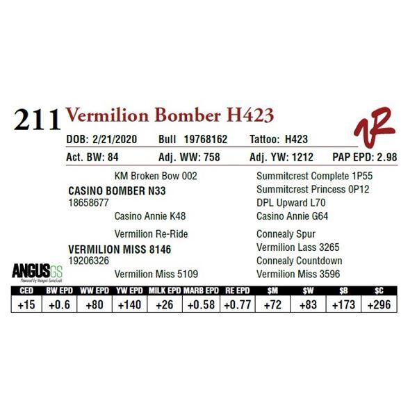 VERMILION BOMBER H423