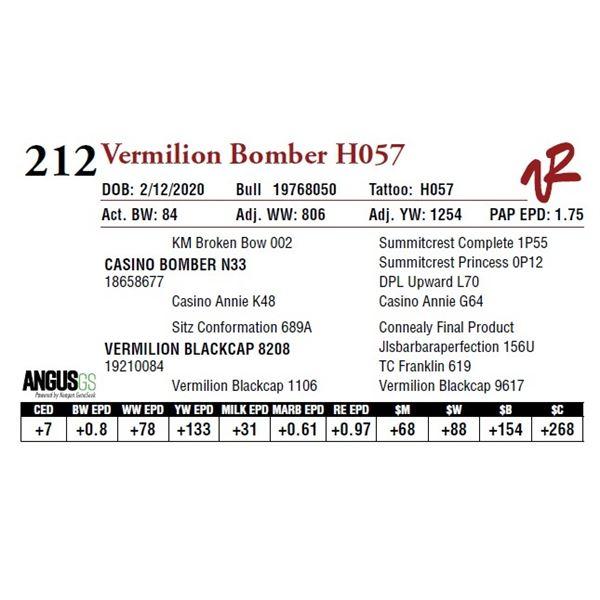 VERMILION BOMBER H057