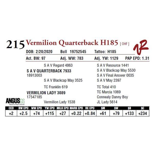 VERMILION QUARTERBACK H185