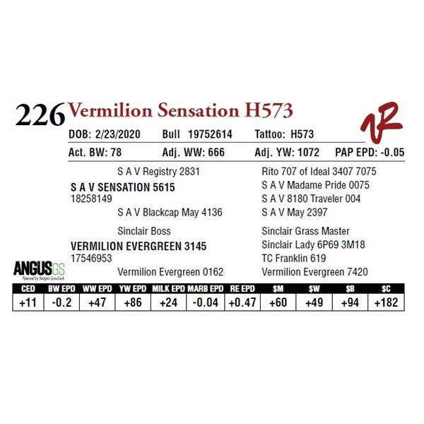 VERMILION SENSATION H573