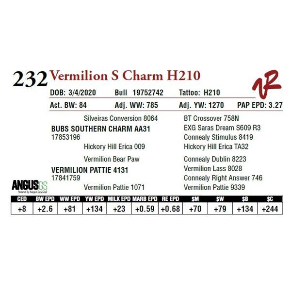 VERMILION S CHARM H210