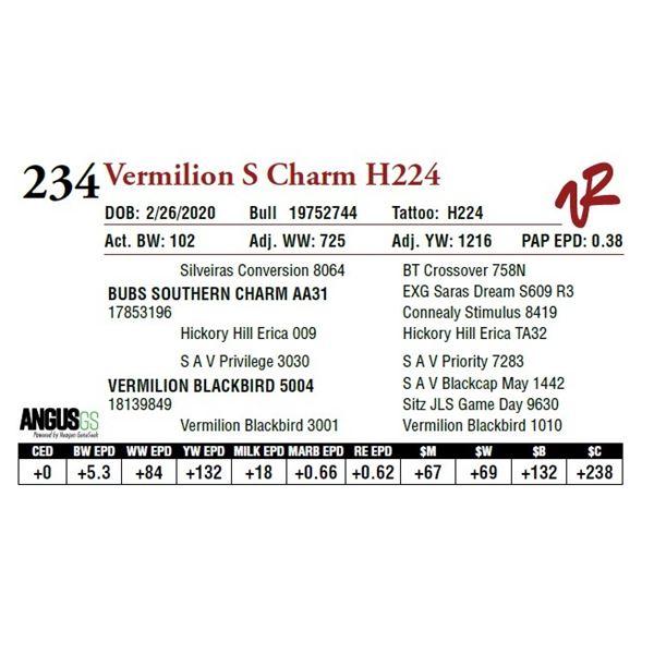 VERMILION S CHARM H224