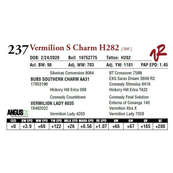 VERMILION S CHARM H282