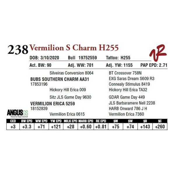 VERMILION S CHARM H255