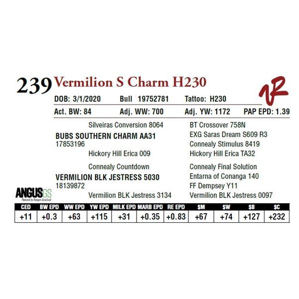 VERMILION S CHARM H230