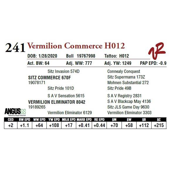 VERMILION COMMERCE H012