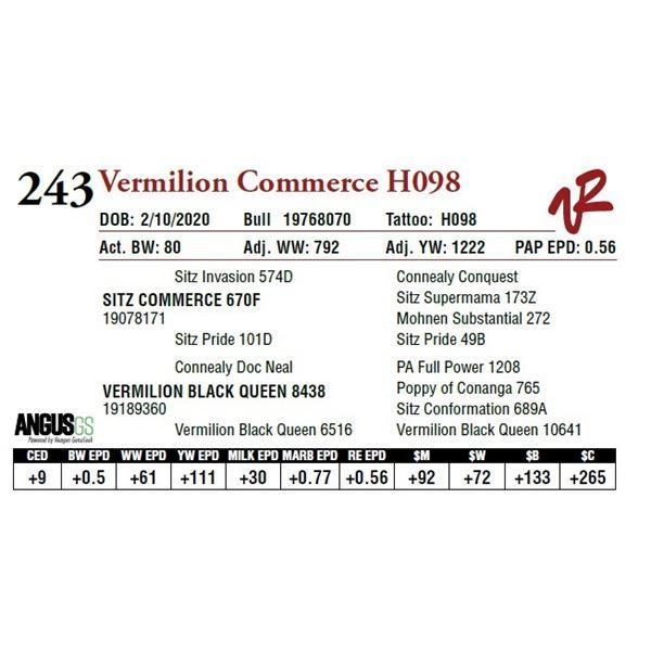 VERMILION COMMERCE H098