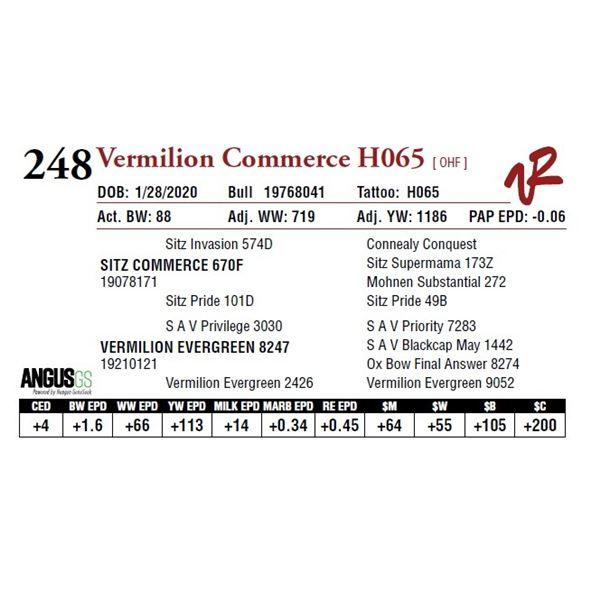 VERMILION COMMERCE H065