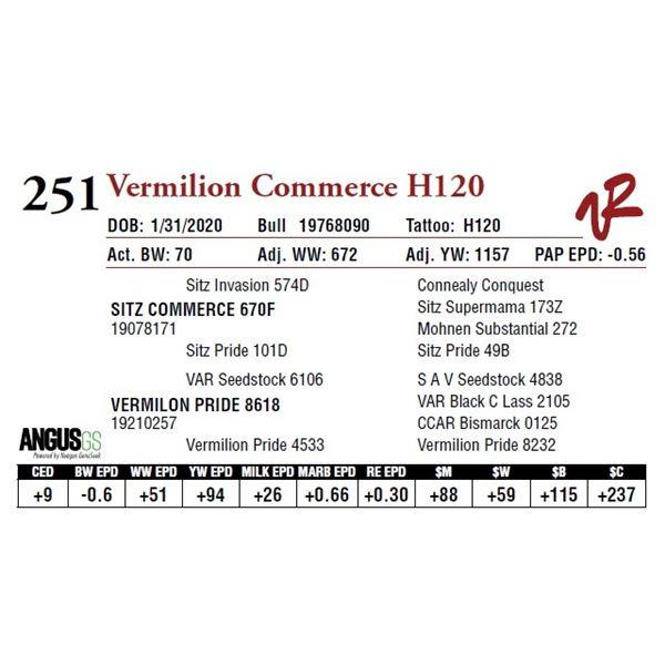 VERMILION COMMERCE H120