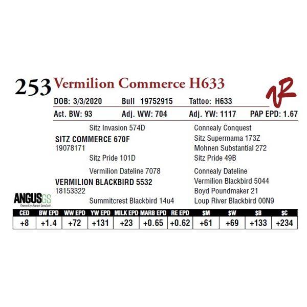 VERMILION COMMERCE H633