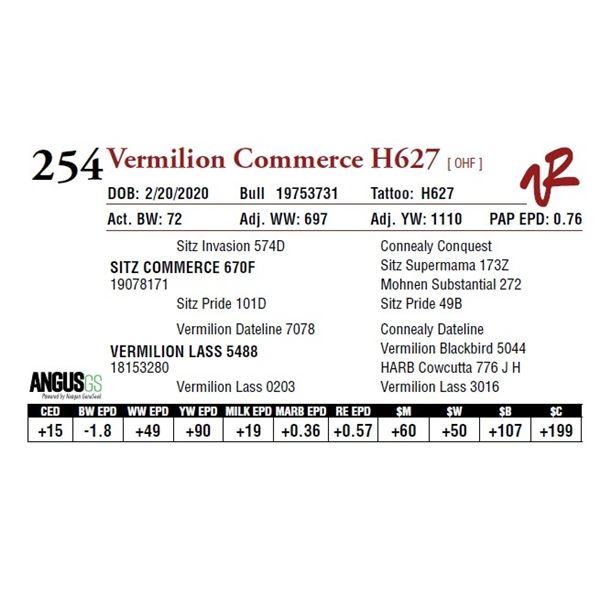 VERMILION COMMERCE H627