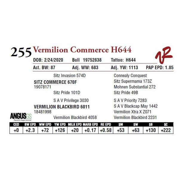VERMILION COMMERCE H644