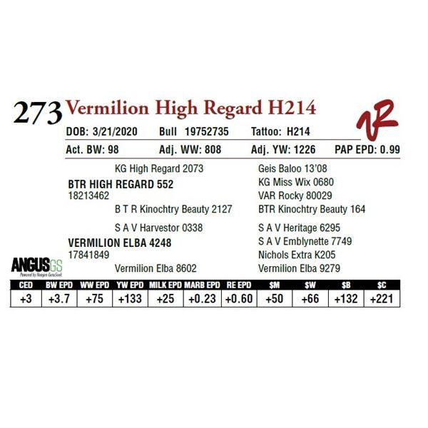 VERMILION HIGH REGARD H214