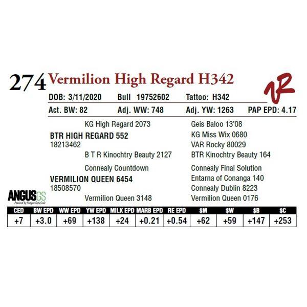 VERMILION HIGH REGARD H342