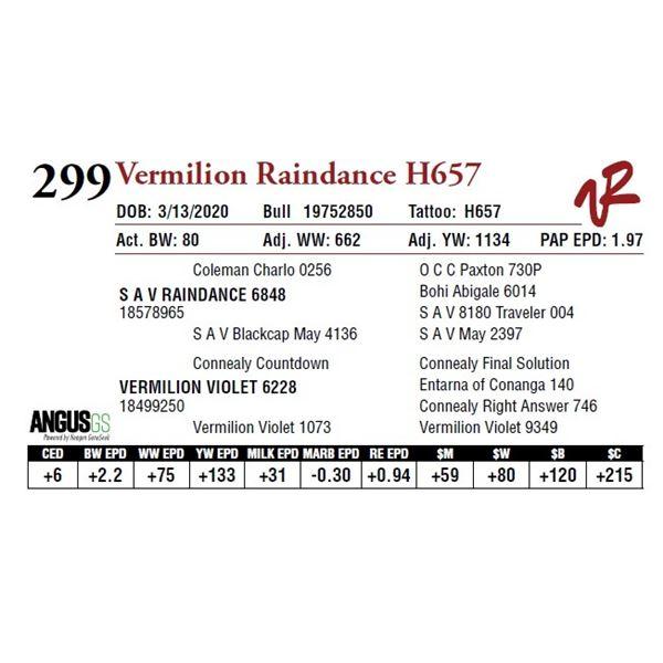 VERMILION RAINDANCE H657