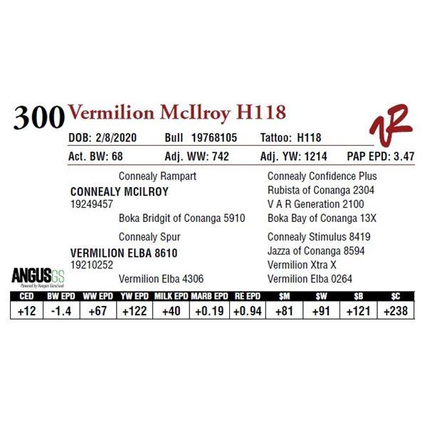 VERMILION MCILROY H118