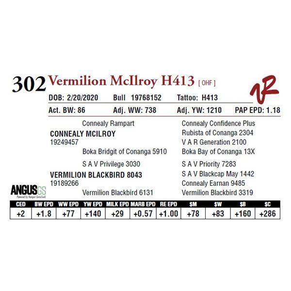 VERMILION MCILROY H413