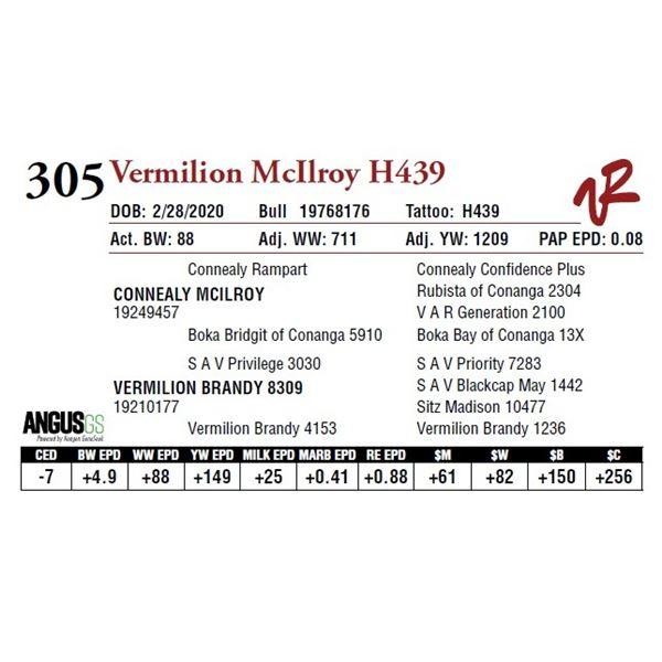 VERMILION MCILROY H439