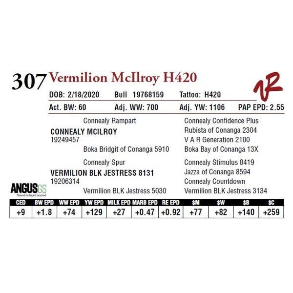 VERMILION MCILROY H420