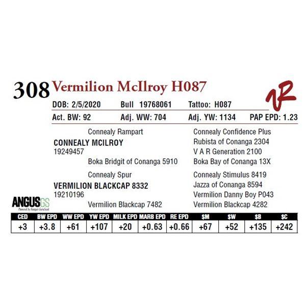 VERMILION MCILROY H087