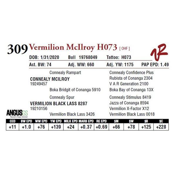 VERMILION MCILROY H073
