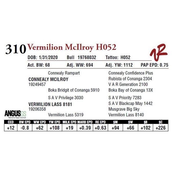 VERMILION MCILROY H052